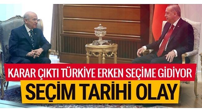 Türkiye erken seçime gidiyor. Erdoğan açıkladı işte erken seçim kararı