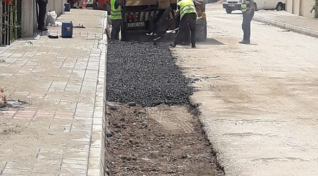 Hendek'te asfalt yama çalışması!...