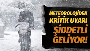 Meteorolojiden kritik kar uyarısı: Şiddetli geliyor!