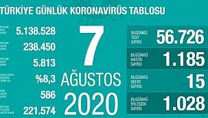 Türkiye'deki koronavirüs vaka ve ölü sayısında son durum (7 Ağustos)