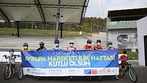 Minik bisikletçilere güvenli sürüş eğitimi...