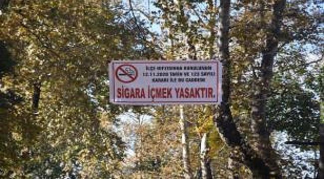 Hendekte sigara içilmesi yasak olan caddeler...
