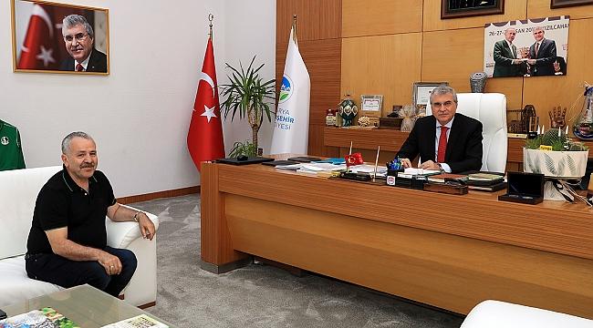 Şaban Dişliden Ekrem Yüce'ye Ziyaret