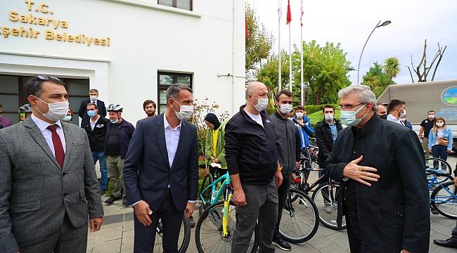 """Başkan Yüce; """"Bisikleti Sakarya'nın bir sembolü yapmak istiyoruz"""""""