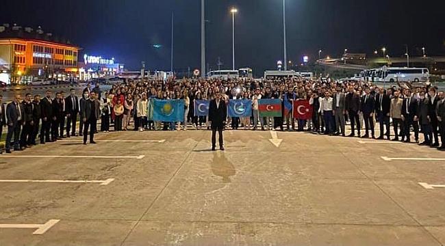 Sakarya Ülkü Ocakları, Türk Gençliği Büyük Kurultayı'na Büyük Katılım sağladı.