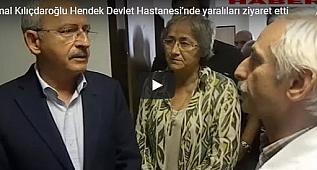 Kemal Kılıçdaroğlu Hendek Devlet Hastanesi'nde yaralıları ziyaret etti