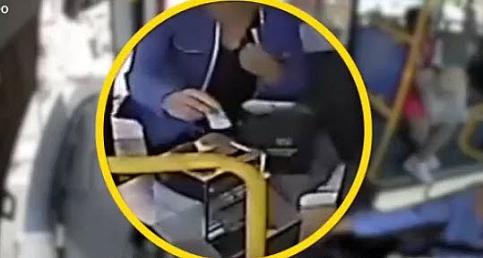 Uyanık otobüs şoförü hırsızı böyle yakaladı